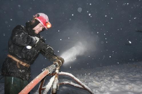 Killington snowmaking began at 1AM 10-3-09